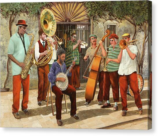 Louisiana Canvas Print - Un Po' Di Jazz by Guido Borelli