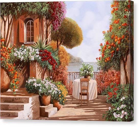 Dating Canvas Print - Una Sedia In Attesa by Guido Borelli