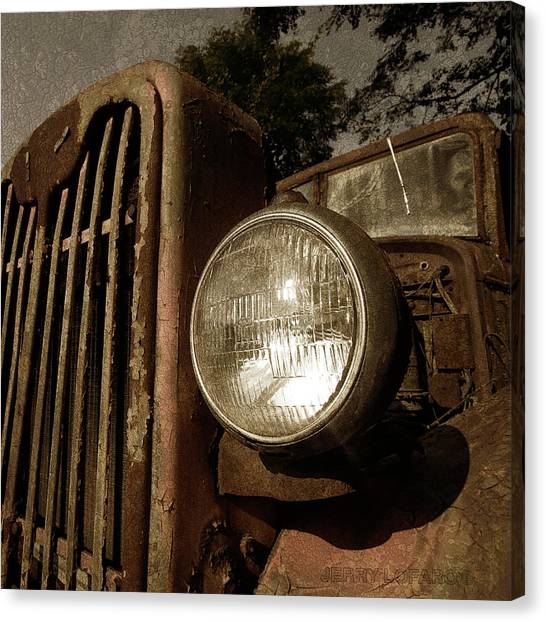 Truck Canvas Print - Unbreakable by Jerry LoFaro