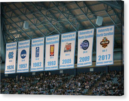 University Of North Carolina Chapel Hill Canvas Print - Unc-ch Championship Banners by Orange Cat Art