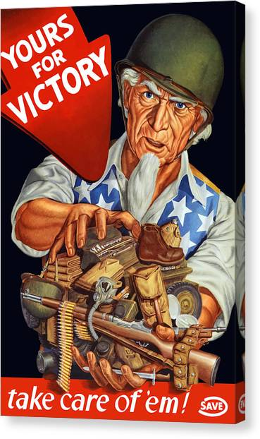 Rifles Canvas Print - Uncle Sam - Yours For Victory by War Is Hell Store
