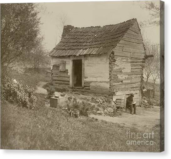Log Cabin Canvas Print - Uncle Tom's Cabin by American School