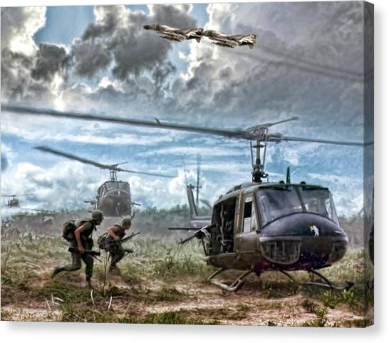 Vietnam War Canvas Print - Uncommon Valor by Peter Chilelli
