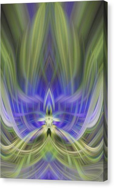 Unconventional  Blue Flower Canvas Print by Linda Phelps