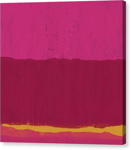 Landscape Canvas Print - Undaunted Pink 2- Art By Linda Woods by Linda Woods