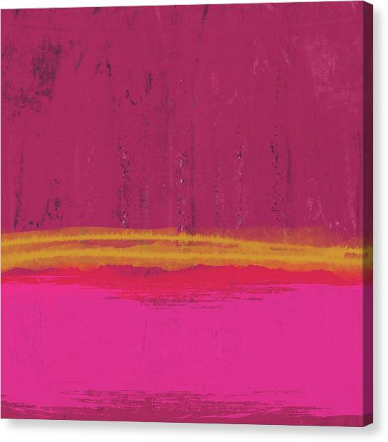 Landscape Canvas Print - Undaunted Pink Abstract- Art By Linda Woods by Linda Woods