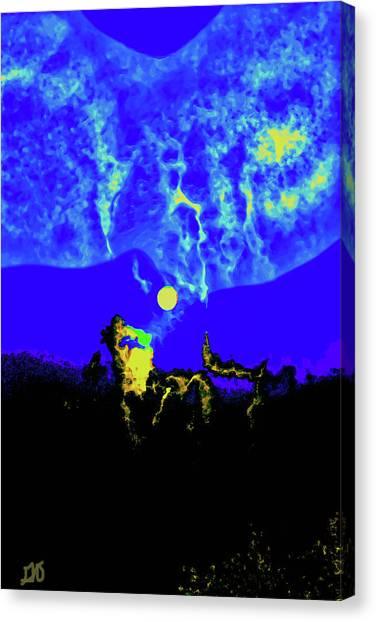 Under A Full Moon Canvas Print