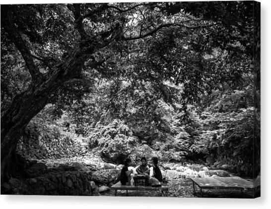 Under A Tree Canvas Print