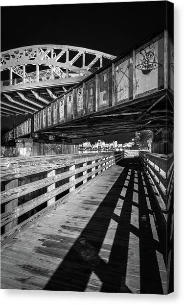 Under Boston University Bridge Canvas Print