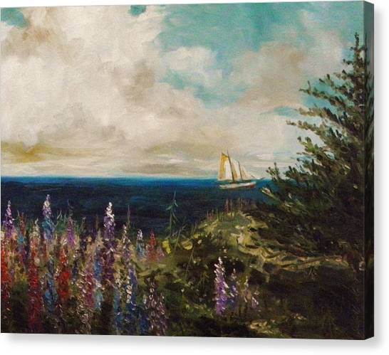 Under Full Sail Canvas Print