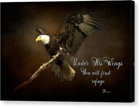 Under His Wings Canvas Print