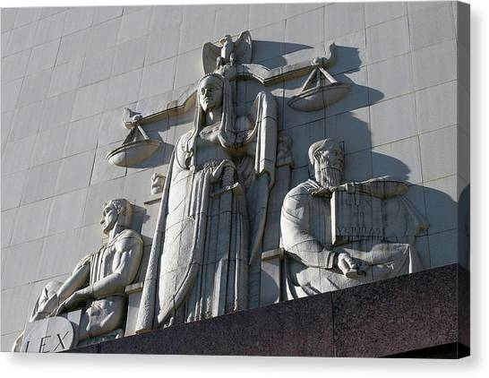 Under Scales Of Justice Canvas Print