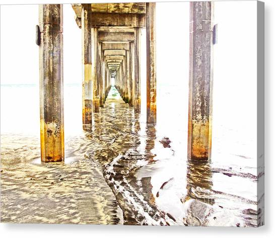 Under Scripps Pier Canvas Print