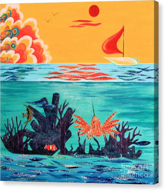 Bright Coral Reef Canvas Print