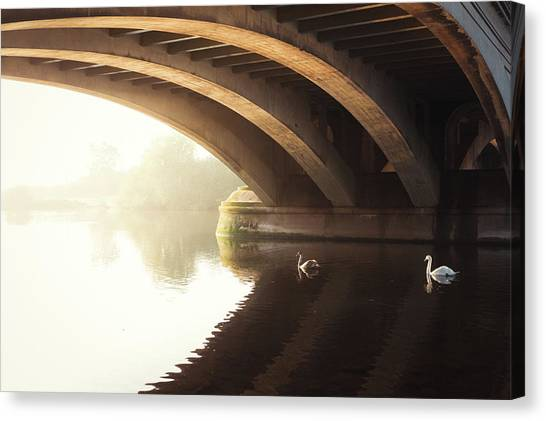 Nottinghamshire Canvas Print - Under The Arch by Chris Dale
