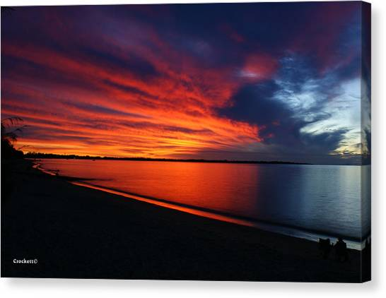 Under The Blood Red Sky Canvas Print