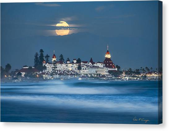 Under The Blue Moon Canvas Print