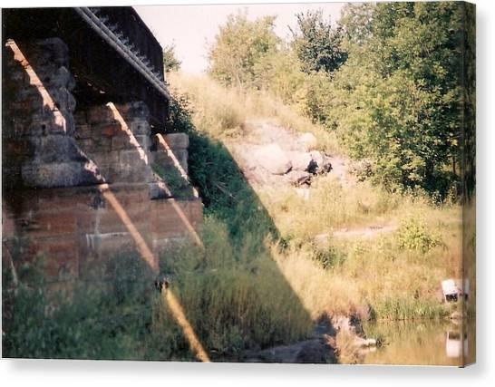 Under The Bridge - Photograph Canvas Print by Jackie Mueller-Jones