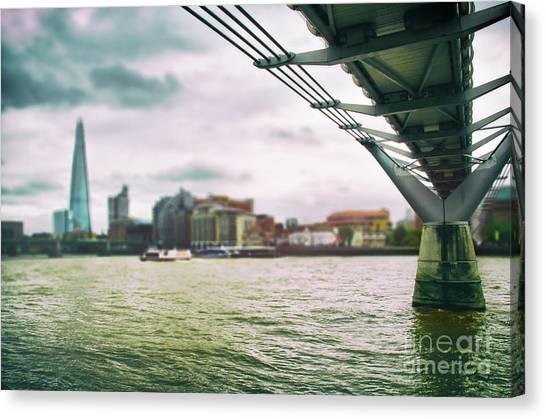 Under The Bridge Canvas Print by Alessandro Giorgi Art Photography