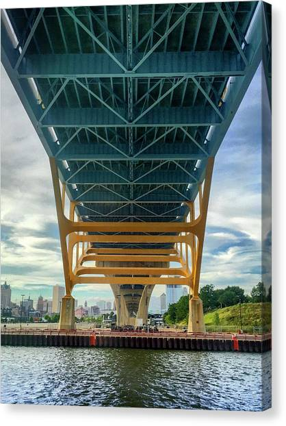 Under The Bridge Downtown Canvas Print