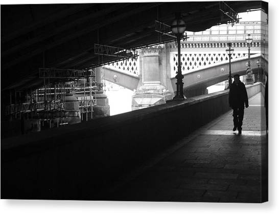 Under The Bridgewalk Canvas Print by Jez C Self