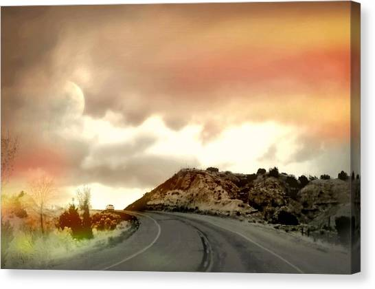 Under The Moon Canvas Print - Under The Desert Sky by Diana Angstadt