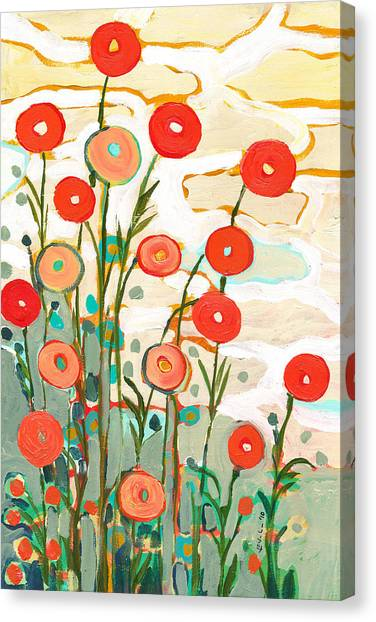 Red Abstract Canvas Print - Under The Desert Sky by Jennifer Lommers