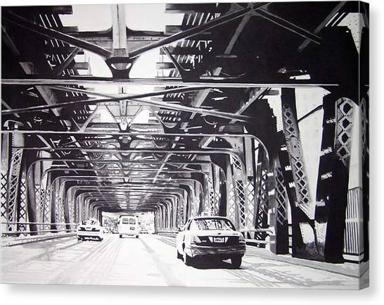 Under The El Canvas Print by Scott Robinson