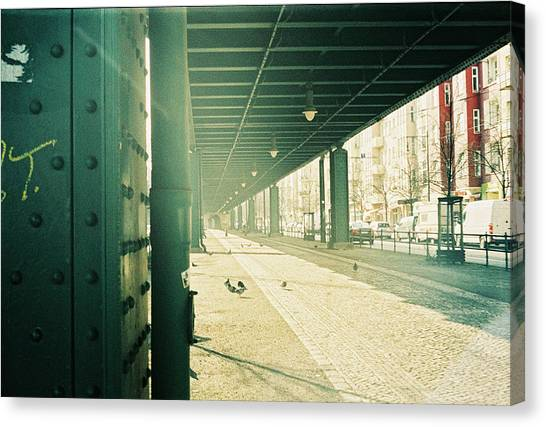 Under The Elevated Railway Canvas Print