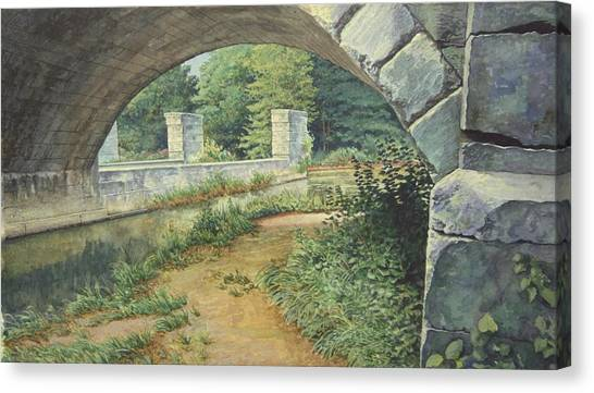 Under The Erie Canal Canvas Print by Stephen Bluto
