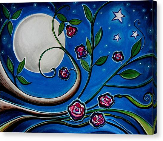 Under The Glowing Moon Canvas Print