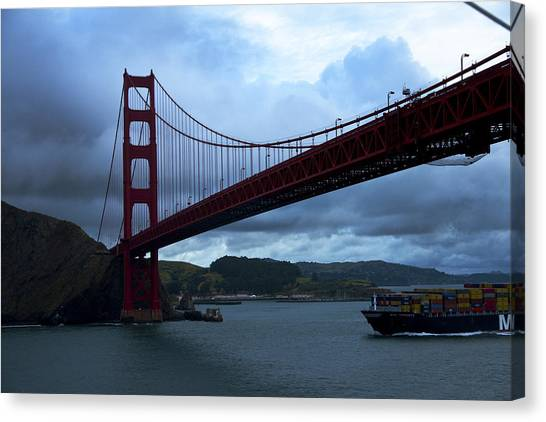 Under The Golden Gate In Early Morning Light  Canvas Print