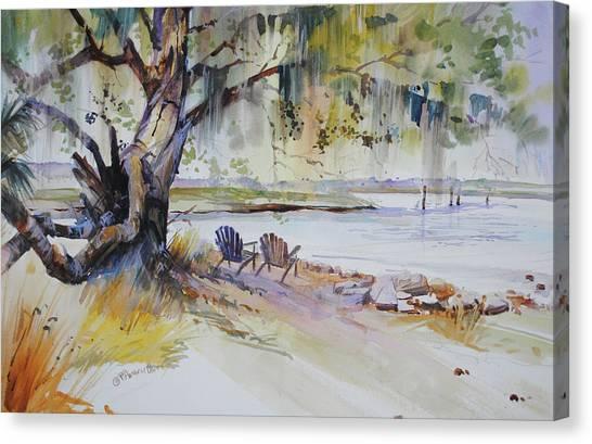 Under The Live Oak Canvas Print