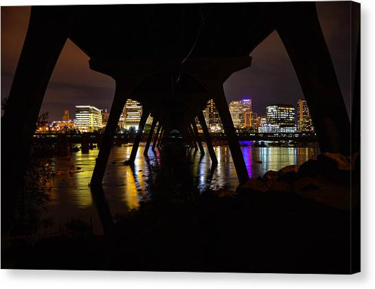 Under The Manchester Bridge Canvas Print