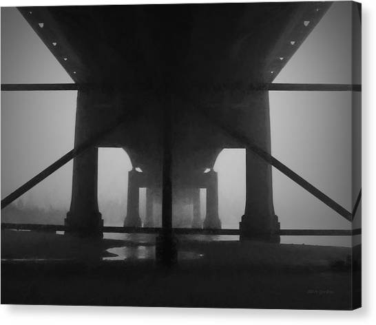 Under The Old Sakonnet River Bridge Canvas Print