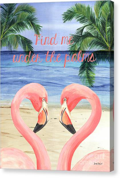 Neck Canvas Print - Under The Palms by Debbie DeWitt