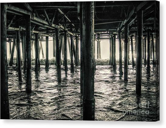 Under The Pier 3 Canvas Print