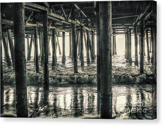 Under The Pier 5 Canvas Print