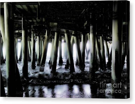 Under The Pier 6 Canvas Print