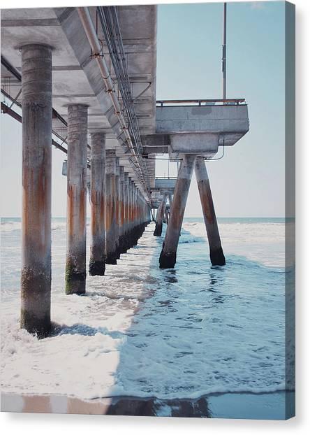 Venice Beach Canvas Print - Under The Pier by Nastasia Cook