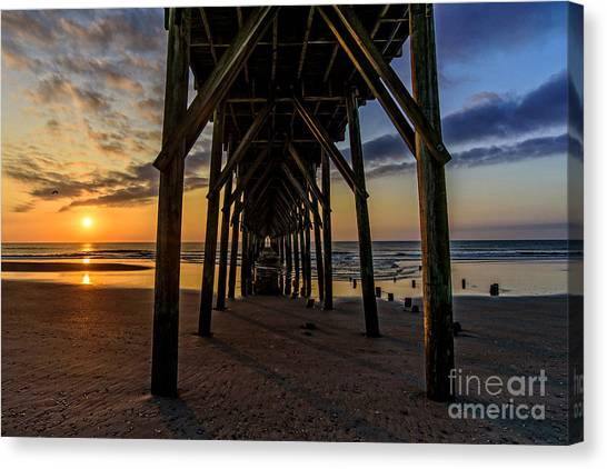 Under The Pier1 Canvas Print