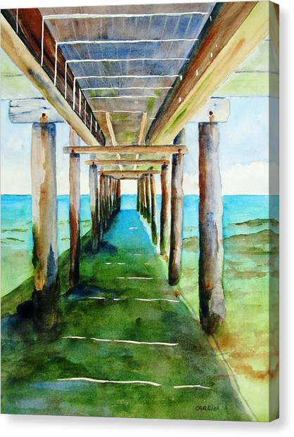 Under The Playa Paraiso Pier Canvas Print