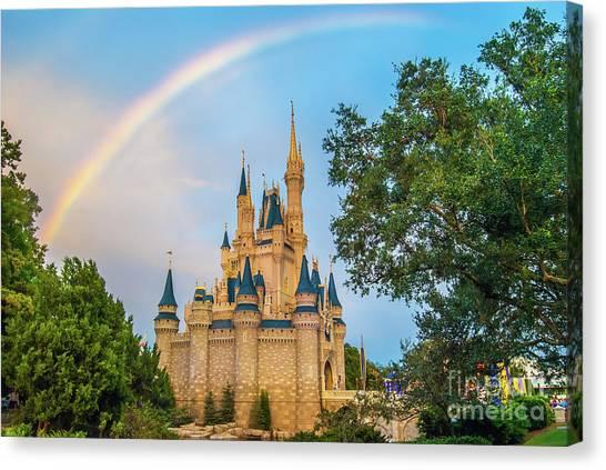 Orlando Magic Canvas Print - Under The Rainbow by Pamela Williams