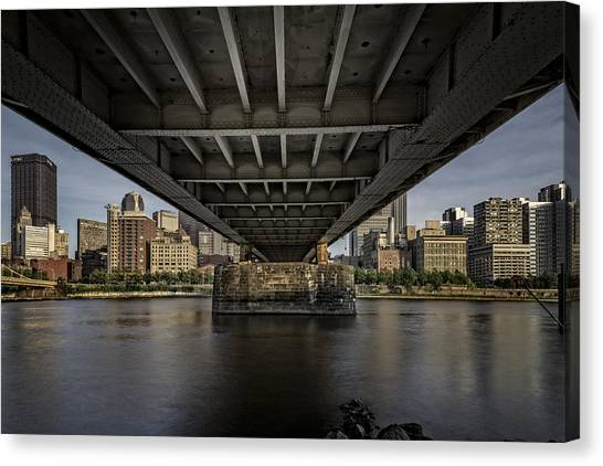 Roberto Clemente Canvas Print - Under The Roberto Clemente Bridge by Rick Berk