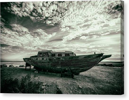 Canvas Print featuring the photograph Under The Salton Sky by Mike Trueblood
