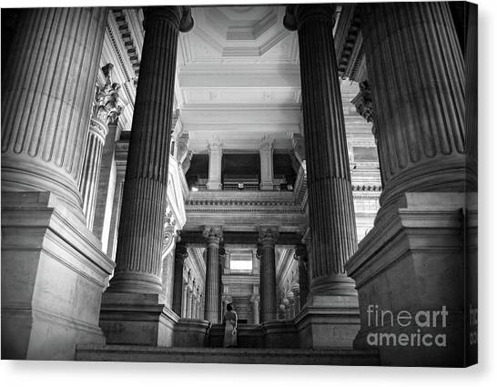 Merode Canvas Print - Under The Scaffolding Of The Palace Of Justice - Brussels by RicardMN Photography