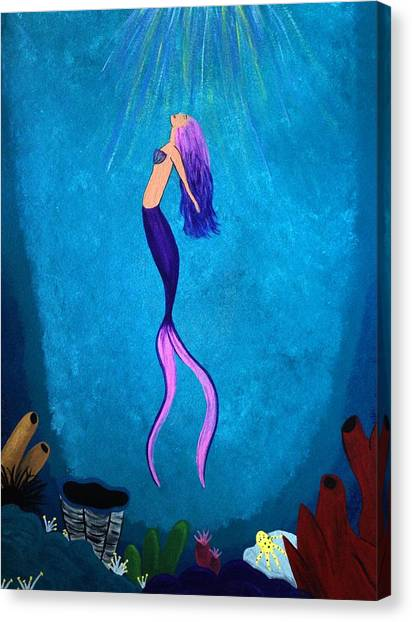 Squids Canvas Print - Under The Sea by Annie Walczyk