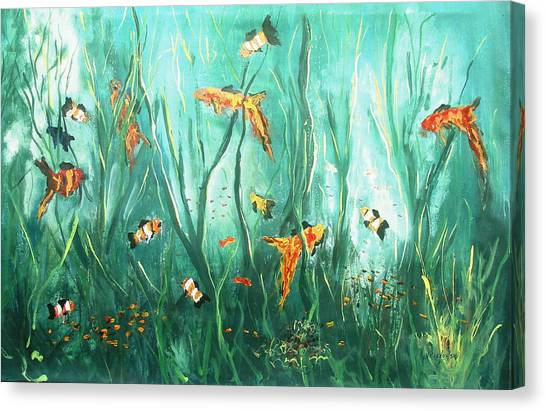 under the sea I Canvas Print by Miroslaw  Chelchowski