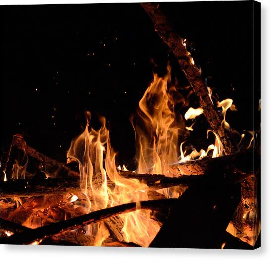 Under The Sparks Canvas Print