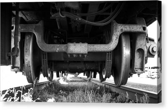 Under The Train Canvas Print